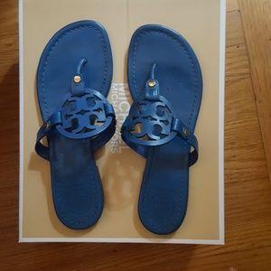 Tory Burch blue 8.5 Miller sandals